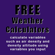 Free Weather Calculations based on weather data you input